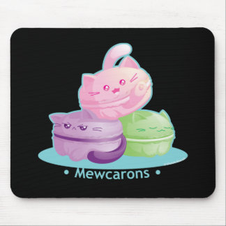 Purrista Pawfee: Cute Kitty Cat Macarons Mouse Pad