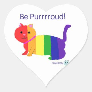 PurrroudCat Heart Sticker