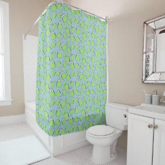 Purses - lime on aqua shower curtain