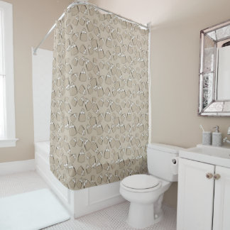 Purses - taupe mono shower curtain