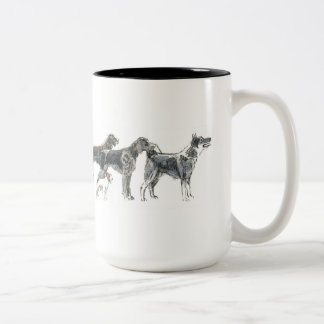 Pursuit dogs for you that chases with dog Two-Tone mug