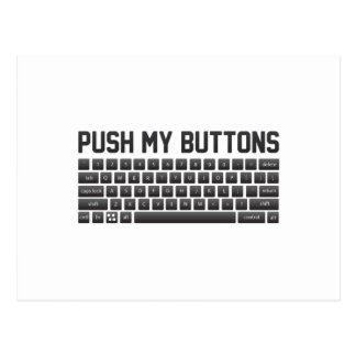 Push My Buttons Postcard