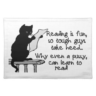 Pussy Can Read Funny Cat Placemat