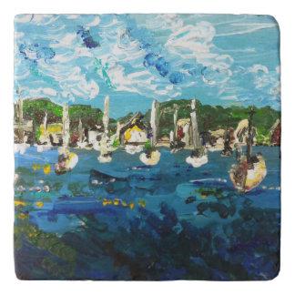 Put-n-Bay Lake Erie Island Painting #1 Trivet