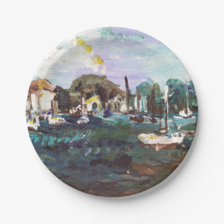 Put-n-Bay Lake Erie Island Painting #2 Paper Plate
