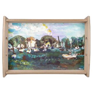 Put-n-Bay Lake Erie Island Painting #2 Serving Tray