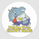 put on your happy face facade elephant