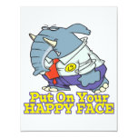 put on your happy face facade elephant invites