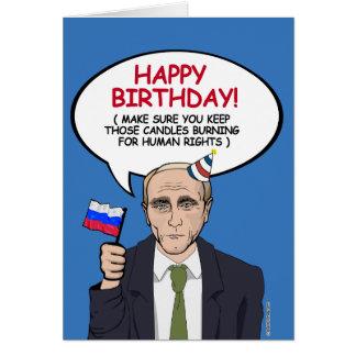 Putin Birthday Card - Keep your candles burning fo