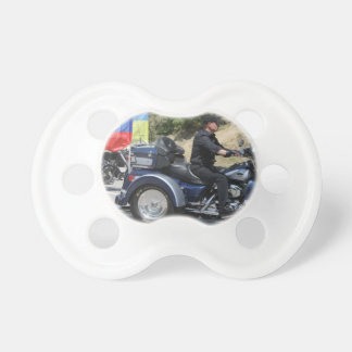 Putin rides a Trike! Baby Pacifier