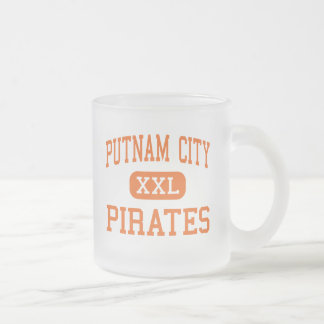 Putnam City - Pirates - High - Oklahoma City Frosted Glass Coffee Mug