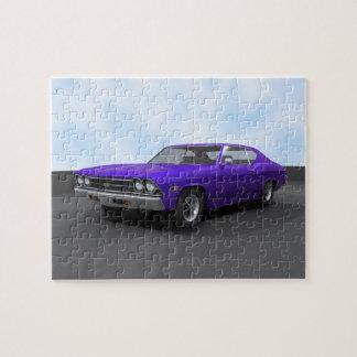 Puzzle: 1969 Chevelle SS: Purple Finish Jigsaw Puzzle