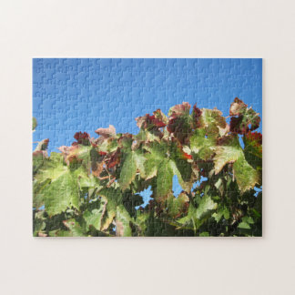 Puzzle: Autumn Grape Foliage Jigsaw Puzzle
