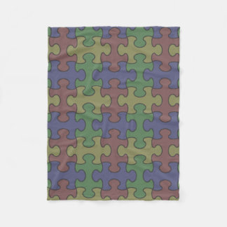 Puzzle Blanket: Autism-friendly colors Fleece Blanket