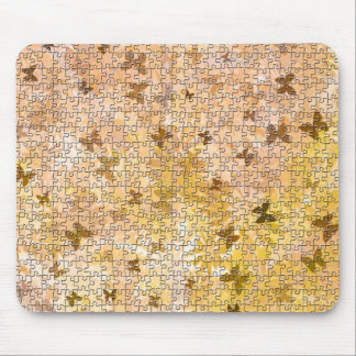 Puzzle Butterflies and Daisies-Browns by STaylor Mouse Pad