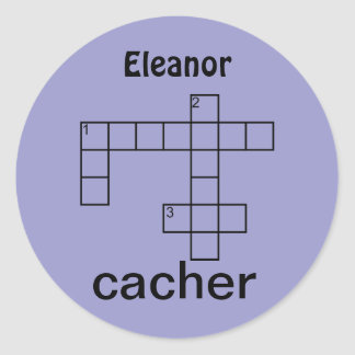 Puzzle Cacher Geocaching Personalized Name Custom Round Stickers