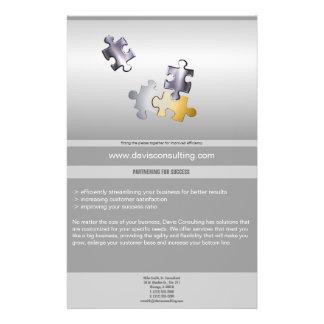 puzzle pieces business flyer