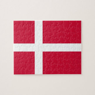 Puzzle with Flag of Denmark