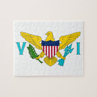 Puzzle with Flag of Virgin Islands