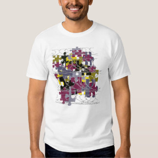 puzzled army t-shirt