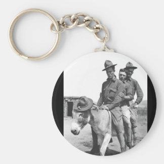 Pvts. Daly, Ball, and Baldwin_War Image Key Ring
