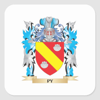 Py Coat of Arms - Family Crest Square Sticker