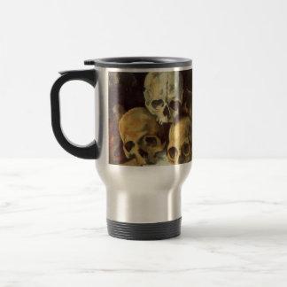 Pyramid of Skulls Vintage Halloween Coffee Mugs