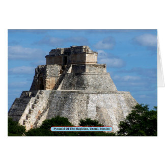 Pyramid Of The Magician, Uxmal, Mexico Card