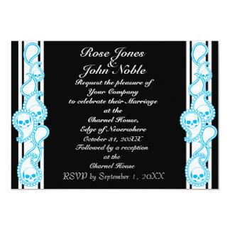 "Pyre (Cyan) Wedding Invitation 5"" X 7"" Invitation Card"