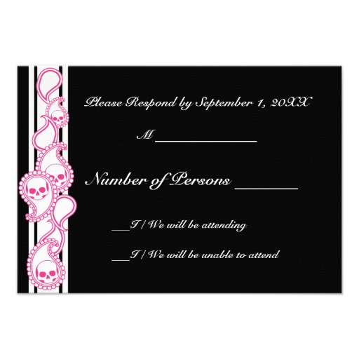 Pyre (Magenta) RSVP Card Personalized Invite