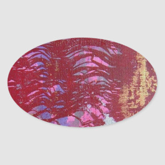 Python Abstract Snake Concept Oval Sticker