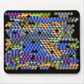 Q cubes mouse pad