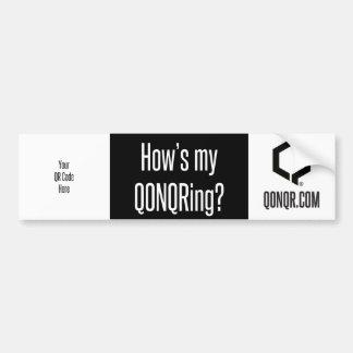 Q How's My... Bumper Sticker