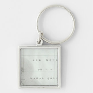 Qosier, Egypt Silver-Colored Square Key Ring