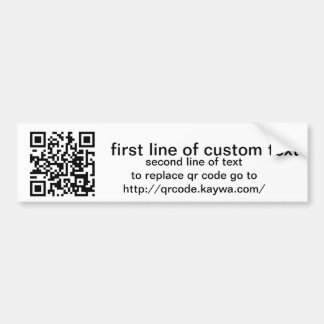 qr code custom bumper sticker