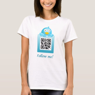 QR Code Follow Me T-Shirt Template