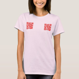 QR My Eyes Are Up Here T-Shirt