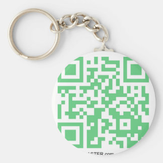 QRBlaster QRCode Products Basic Round Button Key Ring