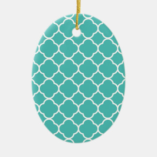 qua trefoil Sea green  Design Christmas Ornament
