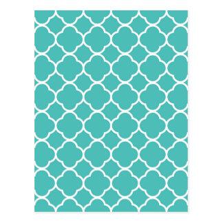 qua trefoil Sea green  Design Postcard