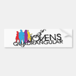 Quadrangular adhesive Young Bumper Sticker