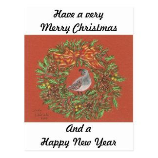 quail desert Christmas card