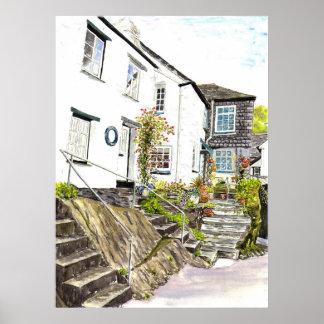 'Quaint Cottages' Poster