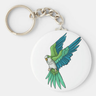 Quaker Parrot Products Basic Round Button Key Ring