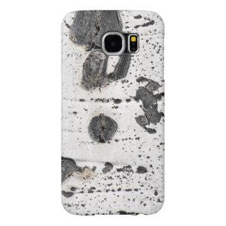 Quaking Aspen Bark Close Up Photograph Samsung Galaxy S6 Cases