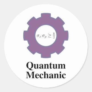 quantum mechanic classic round sticker