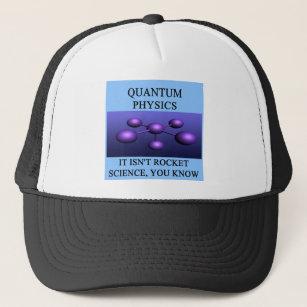 quantum mechanics physics joke trucker hat