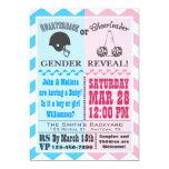 "Quarterback Cheerleader Gender Reveal Invitation 5"" X 7"" Invitation Card"