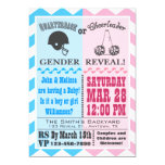 Quarterback Cheerleader Gender Reveal Invitation