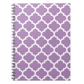 Quatrefoil African Violet Purple Notepad Notebook